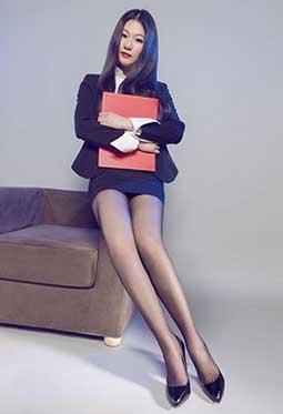 网络丽人Model佳怡丝祙高跟鞋写真